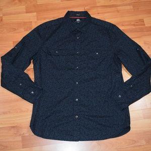 ROCK & REPUBLIC Men's sz L  Button-Front SHIRT